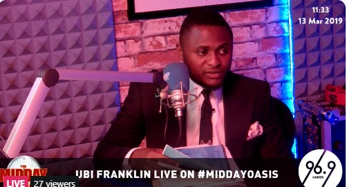 Ubi Franklin on Cool FM #SuperstarWednesday