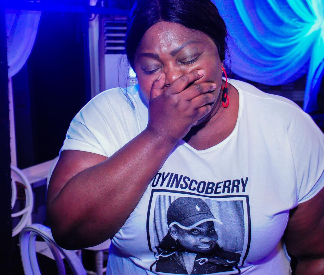 Eniola Badmus In Tears as She Buries Her Friend